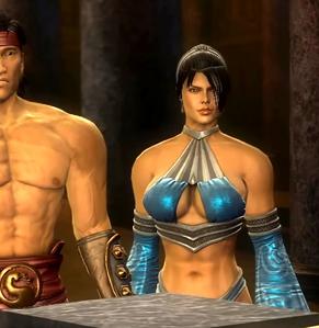 Kitana at the meeting with Raiden MK9