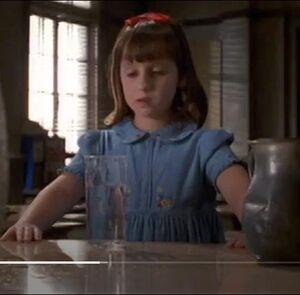 Matilda's pretty blue dress