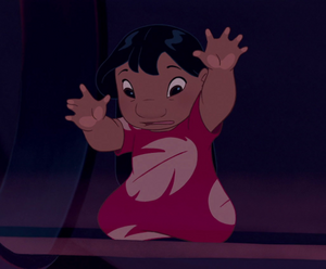 Lilo kidnapped by Captain Gantu