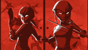 April and Karai in the Opening Scene