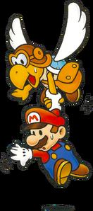 Mario and Parakarry Artwork - Paper Mario