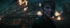 GodzillaSDCCTrailer Madison Russell 18 (Madison Smiling At Godzilla's Arrival)