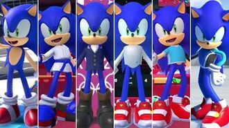 Mario & Sonic at the Olympic Games Tokyo 2020 - All Sonic Outfits