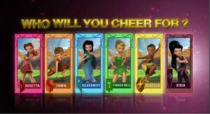 Tinks friend's in Pixie Hollow Games