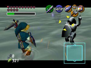 Legend of Zelda, The - Ocarina of Time 64 link vs dark link