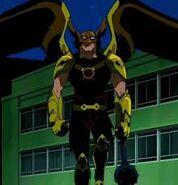 Hawkman as he arrives