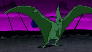 Beast Boy as Pteranodon