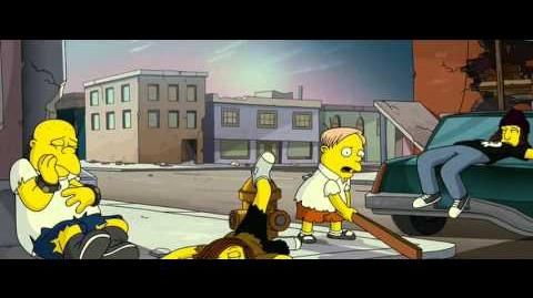THE SIMPSONS MOVIE- Homer & Bart Save Day