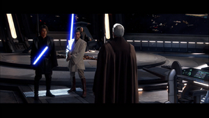 Anakin confronts