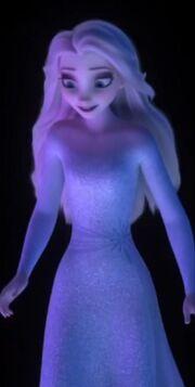 Elsa hair down Frozen II