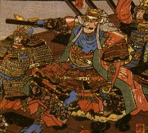 Illustration of Uesugi Kenshin, artist unknown