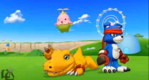 Agumon, Gaomon, Lalamon Savers 3D