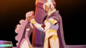 King Alfor and Allura in Flashback