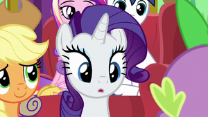 Rarity listening to Spike's song MLPBGE 1