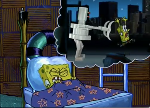SpongeBobs robot nightmare