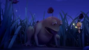 Maya tricks the Frog
