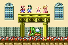 Mario Luigi Toad Peach and King Wart in Super Mario Advance