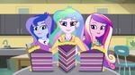 Celestia, Luna, and Cadance are offered cake EG3