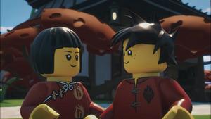 Kai and Nya as children