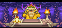 Bowser and Koopa Kid in Mario Party Advance