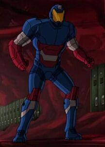 Harry in his Patrioteer Armor