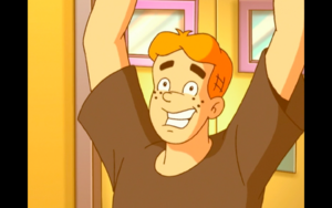 Archie smiling at the fourth wall