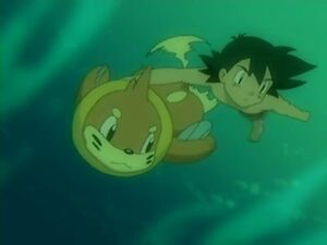 Ash & Buizel Underwater
