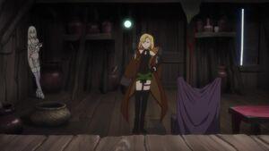 Maria using her magic