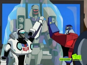 Optimus, Jazz and Frozen Blitzwing