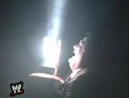 Paul Bearer commanding the spirit of Undertaker by summoning