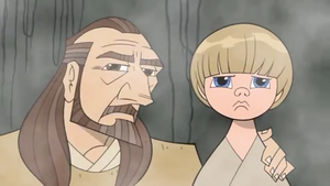 Qui-Gon Anakin vision