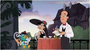 Perry en un restaurante