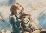 Protagonist Halley and Koudelka