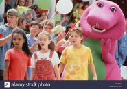 Barney and his friends at the parade