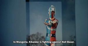 Kikaider in J.A.K.Q. Dengekitai vs. Gorenger