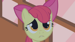 Apple Bloom looking worried S1E09