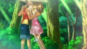 Ash rescuing Serena