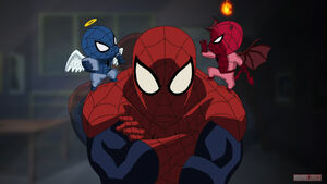 Angel and devil spider-man