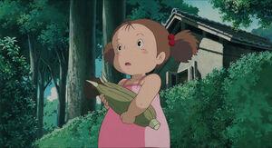 Mei holding corn