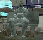 Cyrus Thompson's statue
