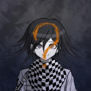 Danganronpa V3 Kokichi Oma Death Portrait (Question Mark)