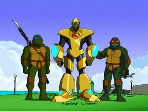Leonardo, Nanobot and Michelangelo