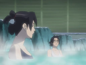 Lori and Professor Suzuki (Bathing Time)
