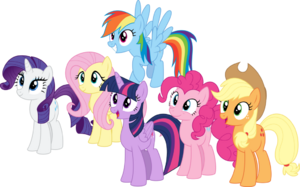 Mane 6 simple by aethon056-d9vipgt