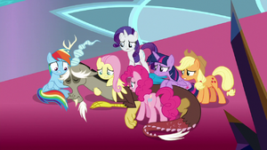 Mane Six concerned about Discord S9E2