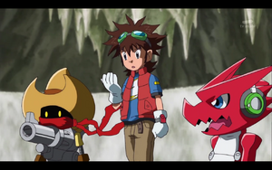 Mikey, Deputymon and Shoutmon