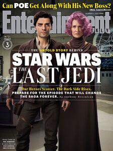 Poe and Holdo EW Cover