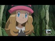 Serena smile to Ash