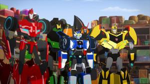 Bumblebee, Strongarm, Grimlock, Drift and Sideswipe (Disco Time)