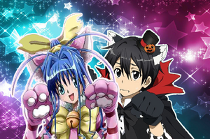 Kirito and Neon Halloween Card 1
